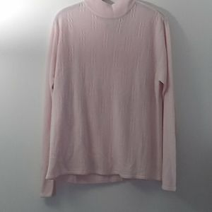 Studio Works Pink Mock Neck Sweater